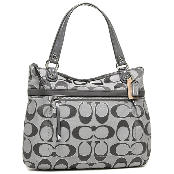 coach poppy purse outlet isqr  Coach bags outlet COACH 18979 SV/AH poppy metallic signature satin g tote  bag ash