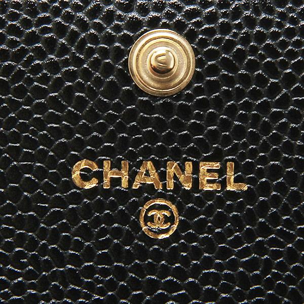 샤넬 지갑 CHANEL A50096 Y01864 C3906 마트랏세캐비아스킨장 지갑 BLACK/GOLD