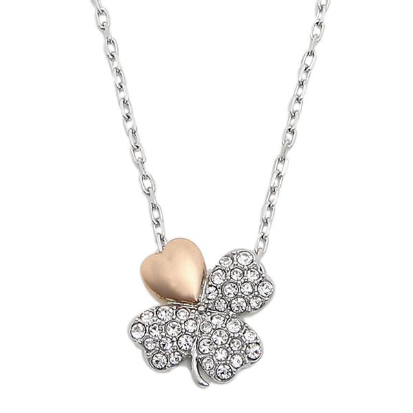 Swarovski necklace ladies SWAROVSKI 5076853 BETTER CLOVER NECKLACE pendant Silver / Pink