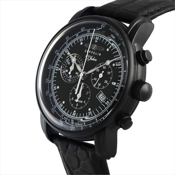 Zeppelin watches men's ZEPPELIN 76782 SPECIAL EDITION100YEARS quartz wrist watch Watch Black / Black