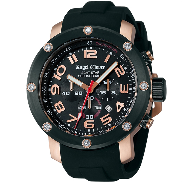 エンジェルクローバー 時計 メンズ ANGEL CLOVER NES46PBK-BK 8GHTSTAR エイトスター 腕時計 ウォッチ ブラック/ブラック