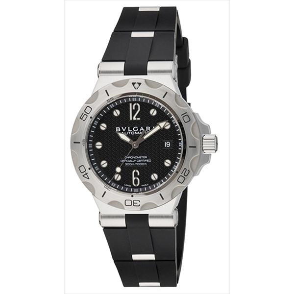 9537b71b174b シリアル有 ディアゴノ ブラック メンズ オートマチック クラシック ウォッチ BVLGARI ブルガリ 時計 DG40BSSD 腕時計