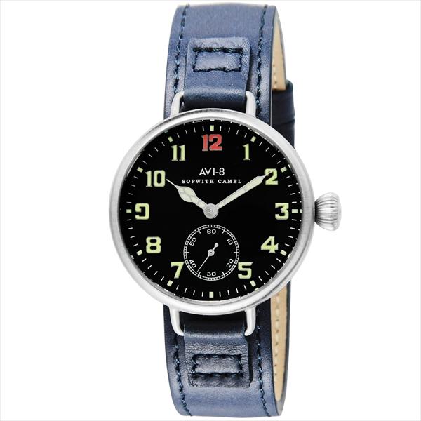 アヴィエイト 時計 メンズ AVI-8 アビエイト AV403403 SOPWITHCAMEL 腕時計 ウォッチ ブルー/ブラック