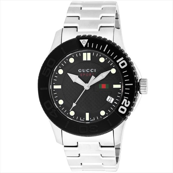 グッチ 時計 メンズ GUCCI YA126249 G-TIMELESS 腕時計 ウォッチ シルバー/ブラック