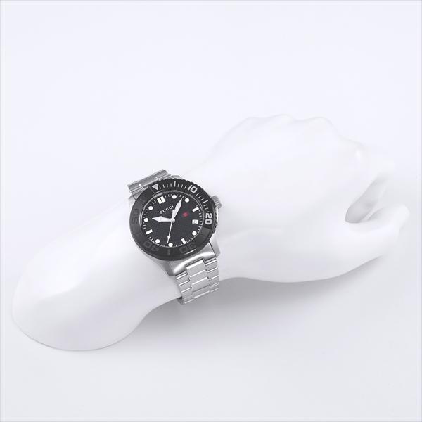 Gucci watch mens GUCCI YA126249 G-TIMELESS watches watch silver / black