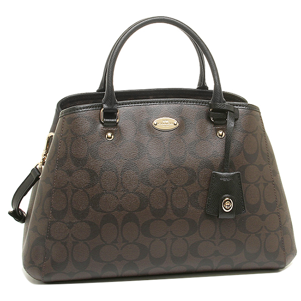 Coach bags outlet COACH F34608 IMAA8 signature small Margot carryall bag brown / black
