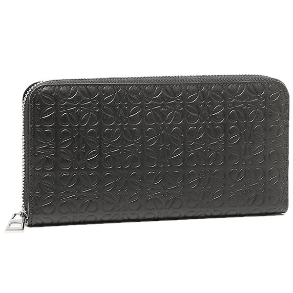 ロエベ 財布 レディース LOEWE 107N55.F13 1100 ZIP AROUND WALLET 長財布 BLACK【new0318】