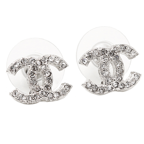 chanel earrings. chanel earrings chanel a85550 y02003 cc mark silver / clear