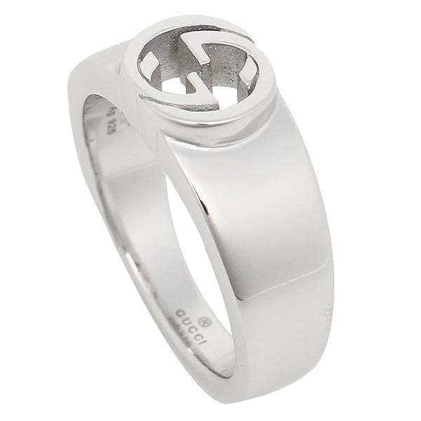 GUCCI グッチ 指輪 リング アクセサリー レディース グッチ 374666 J8400 0702 インターロッキングG 指輪 シルバー