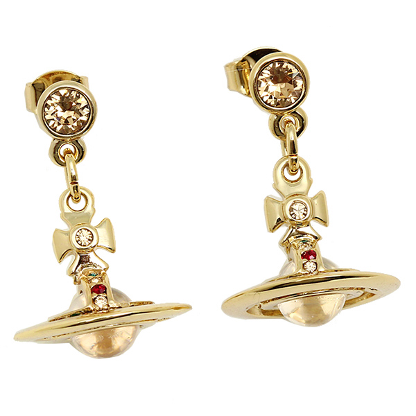 Vivienne Westwood Earrings 1467 14 01 New Tiny Orb Gold