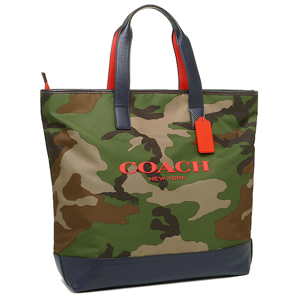 classic coach bags outlet q5ao  Coach bags outlet men's COACH F71758 DYA Marsa printed nylon tote classic  camouflage