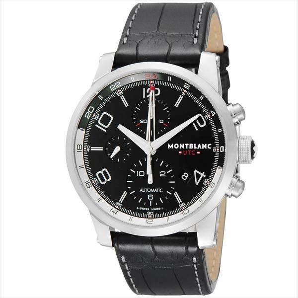モンブラン 時計 メンズ MONTBLANC 107336 TIMEWALKERUTC 自動巻き 腕時計 ウォッチ ブラック