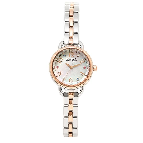 ルビンローザ 時計 レディース Rubin Rosa R019SOLTWH ソーラー 腕時計 ウォッチ シルバー/ゴールド