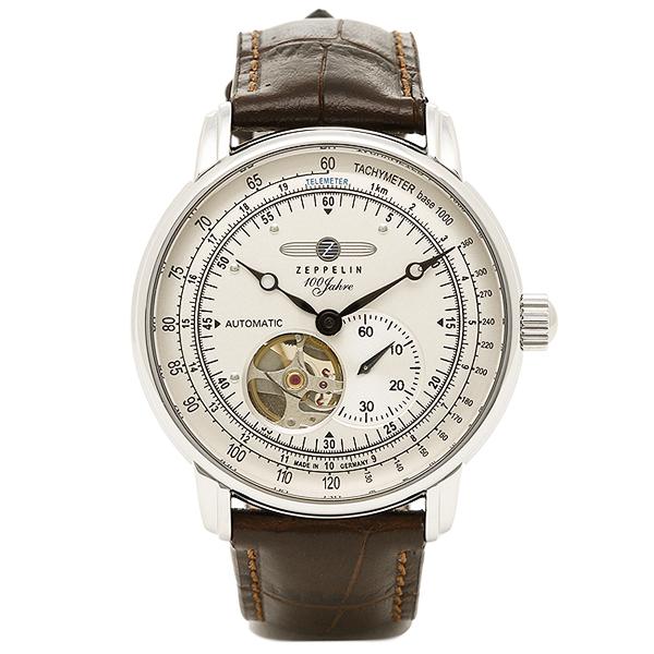 ツェッペリン 時計 メンズ ZEPPELIN 76621 SPECIAL EDITION100YEARS 自動巻 腕時計 ウォッチ ブラウン/アイボリー