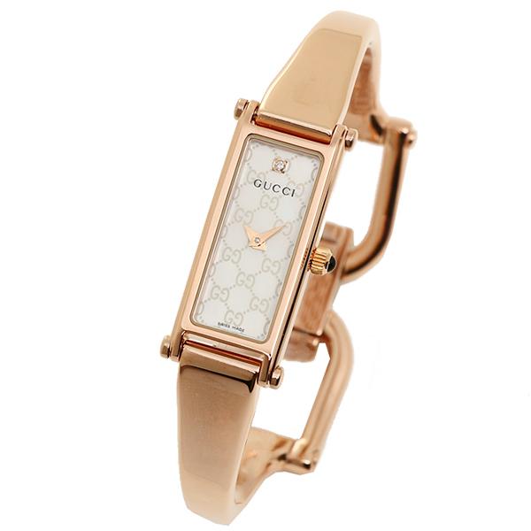 Gucci 手表女士古奇 YA015560 1500 系列手表看白色珍珠 / 粉红色
