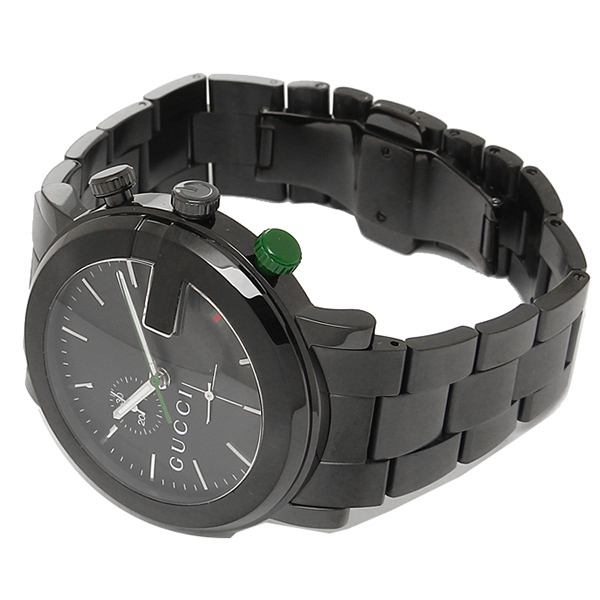 9c36f7a7fdd Gucci watch mens watch YA101331 GUCCI G round chronograph stainless steel  black