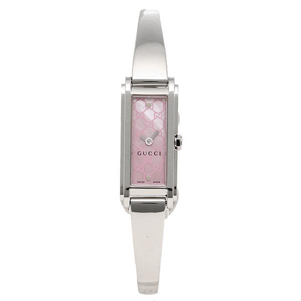 グッチ 時計 レディース GUCCI YA109530 G-LINE Gライン バングルウォッチ ピンクパール/シルバー