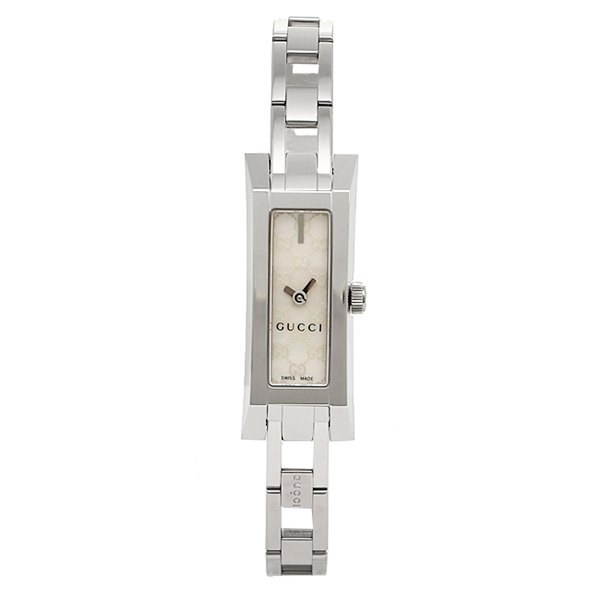 Gucci watches ladies GUCCI YA110525 G LINK watch watches white / silver
