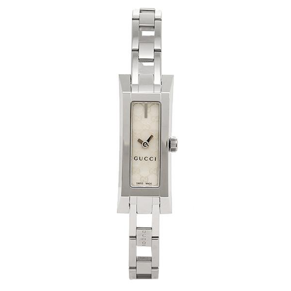 구찌 시계 레이디스 GUCCI YA110525 G LINK 손목시계 워치 화이트/실버