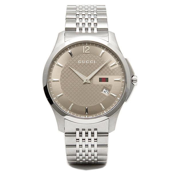 グッチ 腕時計 GUCCI YA126310 Gタイムレス メンズウォッチ ブラウン