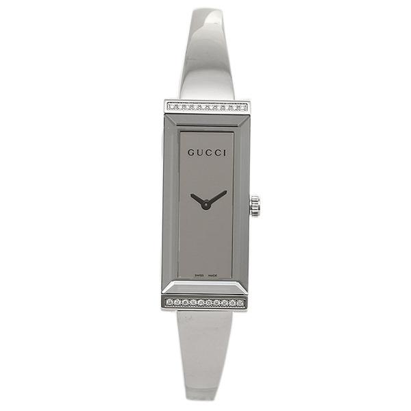 GUCCI グッチ YA12755 レクタングル バージョン Gフレーム コレクション腕時計 ジュエリークラスプ レディースウォッチ シルバー/ミラーダイヤル シルバー/シルバー
