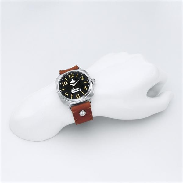 비비안웨스트웃드 시계 맨즈 VIVIENNE WESTWOOD VV061SLBR BATTERSEA 바타시 손목시계 워치 브라운/블랙