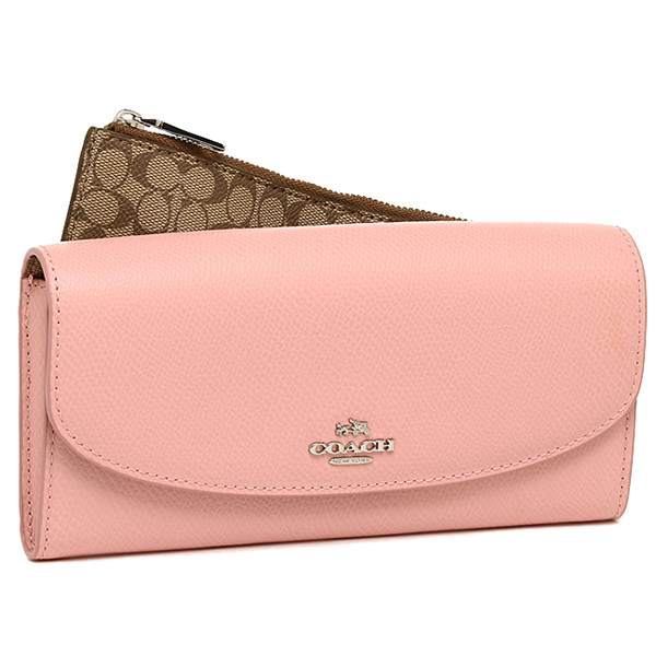 outlet for coach purses aw4y  Coach purse outlet COACH F52628 SV/B5 cross-grain leather pop with pouch  wallet
