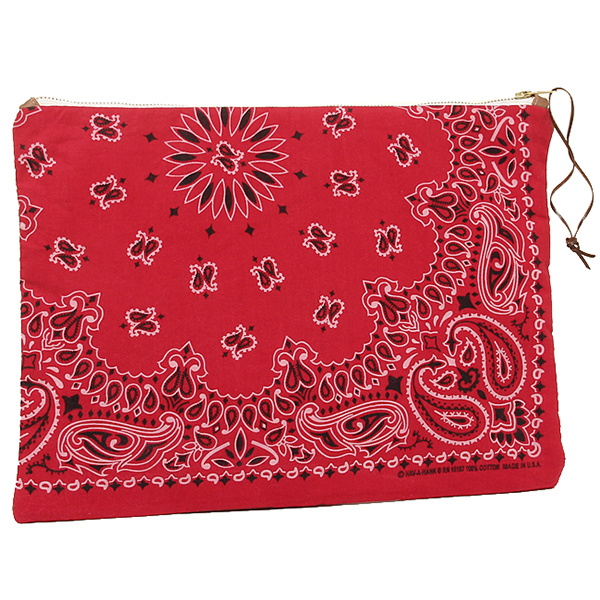 DOUBLE SHOT ダブルショット バッグ DS0013-CL-RDBR LEATHER BANDANA CLUTCH クラッチバッグ RED/BROWN