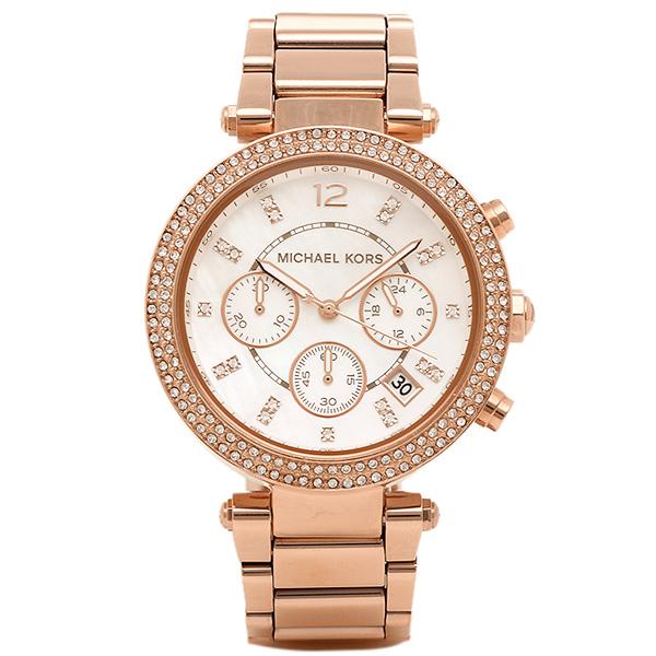 マイケルコース 時計 レディース MICHAEL KORS MK5491 MK5491622 パーカー 腕時計 ウォッチ ピンクゴールド ホワイト