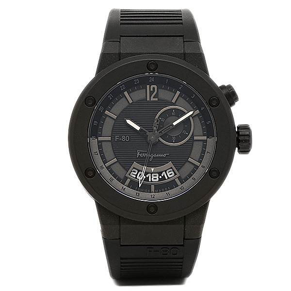 サルヴァトーレフェラガモ 時計 メンズ Salvatore Ferragamo F55LGQ6877S113 F-80 腕時計 ウォッチ ブラック
