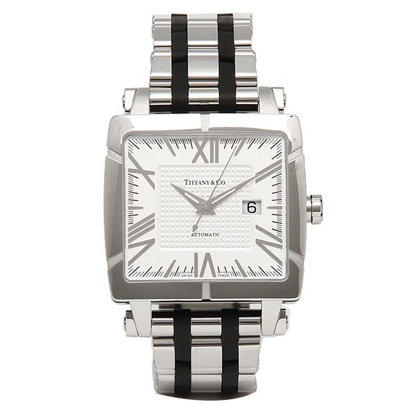 ティファニー 時計 メンズ TIFFANY&Co. Z1100.70.12A21A00A 自動巻 ATLAS GENT SQUARE 腕時計 ウォッチ シルバー