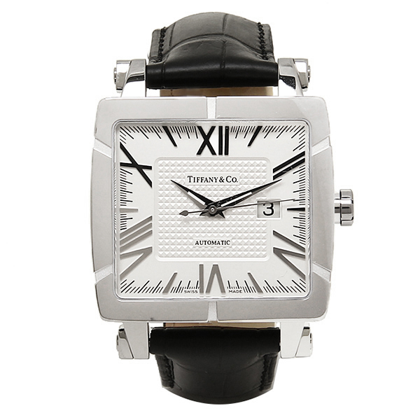 ティファニー 時計 メンズ TIFFANY&Co. Z1100.70.12A21A71A 自動巻 ATLAS GENT SQUARE 腕時計 ウォッチ シルバー