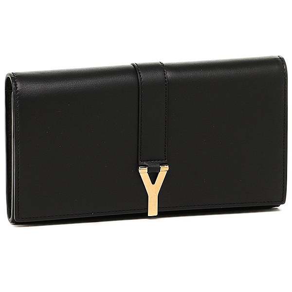 생로 랑 파리 지갑 SAINT LAURENT PARIS 372405 BJ50J 1000 Y LINE LARGE FLAP WALLET 장 지갑 BLACK