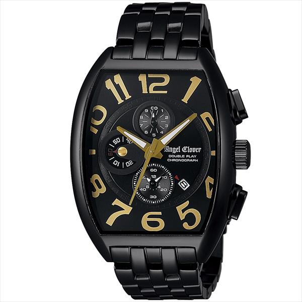 エンジェルクローバー 時計 メンズ ANGEL CLOVER ダブルプレイ 腕時計 ウォッチ ブラック