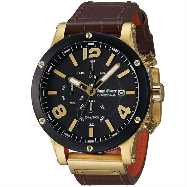 エンジェルクローバー 時計 メンズ ANGEL CLOVER エクスベンチャー 腕時計 ウォッチ ブラック ブラウン