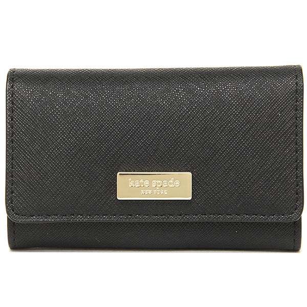 Kate spade key holder outlet KATE SPADE WLRU2305 001 NEWBURY LANE RUCY key wallet BLACK