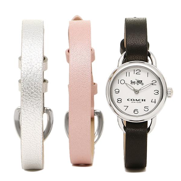 コーチ 時計 レディース COACH 14502363 DREE GIFT SET ドリー 替えベルト付き 腕時計 ウォッチ シルバ-/ブラック/ピンク/グレ-