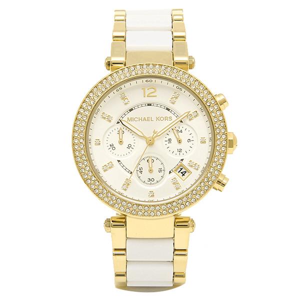 マイケルコース 時計 レディース MICHAEL KORS MK6119 パーカー 腕時計 ウォッチ シルバー/ゴールド/ホワイト