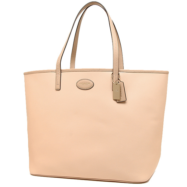 Coach bags outlet COACH F37198 IMDNC cross grain leather Metro tote bag peach bisc