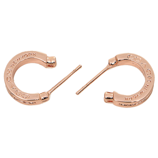 Coach earring outlet COACH F99561 RSCLE pave Crystal hoop earrings rose