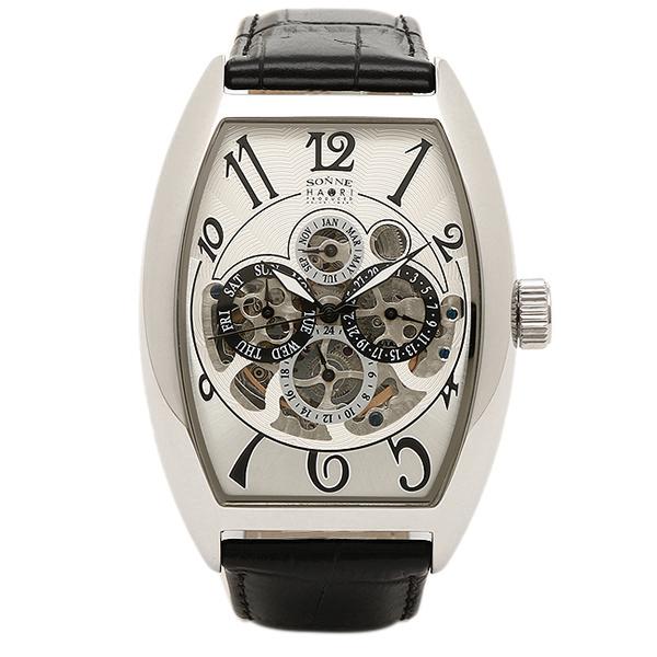 SONNE ゾンネ 時計 メンズ H015SS-BK HAORI ハオリ 自動巻き 腕時計 ウォッチ シルバー/ブラック