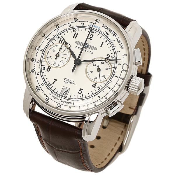 Zeppelin watches men's ZEPPELIN 76741 Special Edition 100 Years 100 year anniversary limited edition watch Watch Silver / Brown