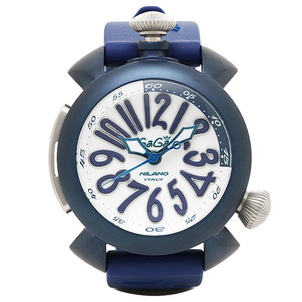 GAGA MILANO ガガミラノ 時計 メンズ 5043-BLURUBBER DIVING ダイビング48MM 自動巻き 腕時計 ウォッチ ホワイト/ブルー