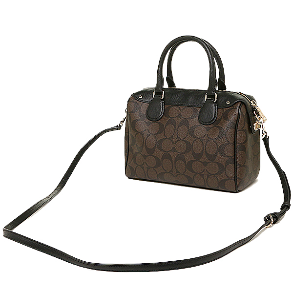 coach satchel bag outlet k4o6  Coach bags outlet COACH F36702 IMAA8 signature mini Bennett satchel 2-WAY  bag brown /