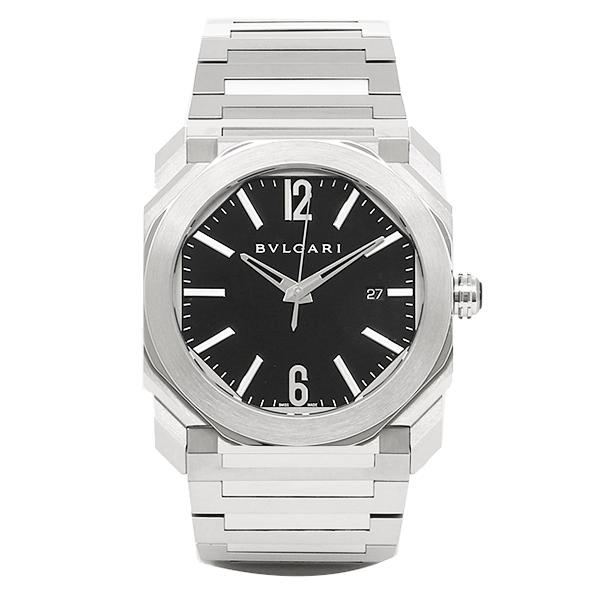 BVLGARI 時計 メンズ ブルガリ BGO41BSSD 102031 オクト 自動巻き 腕時計 ウォッチ シルバー/ブラック