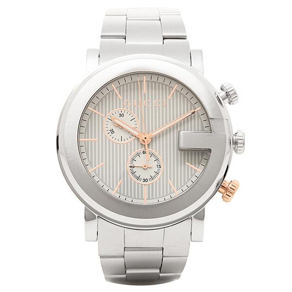 GUCCI 時計 メンズ グッチ YA101360 Gクロノ 腕時計 ウォッチ シルバー/ピンクゴールド