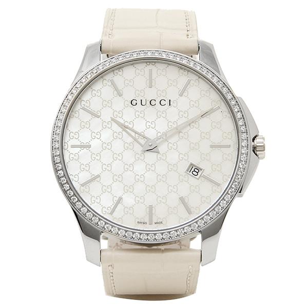 GUCCI 時計 メンズ グッチ YA126306 Gタイムレス 腕時計 ウォッチ ホワイト/シルバー