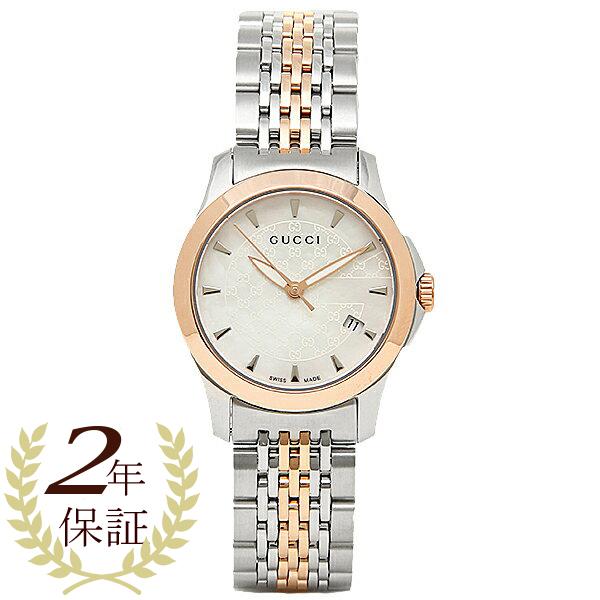 GUCCI 時計 レディース グッチ YA126537 Gタイムレス 腕時計 ウォッチ シルバー/ゴールド/ホワイトパール