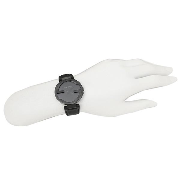 구찌 시계 레이디스 GUCCI YA133302 INTERROCKING 인타록킹 손목시계 워치 블랙