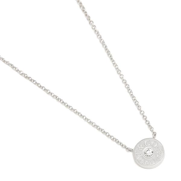 TIFFANY&Co. ネックレス アクセサリー ティファニー 33285973 1837 18K サークル ペンダント ダイアモンド 16in 18K ペンダント ホワイトゴールド/クリア